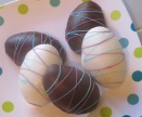 Chocolate Easter Eggs with Peanut Butter Filling