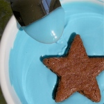 Chocolate covered brownie stars