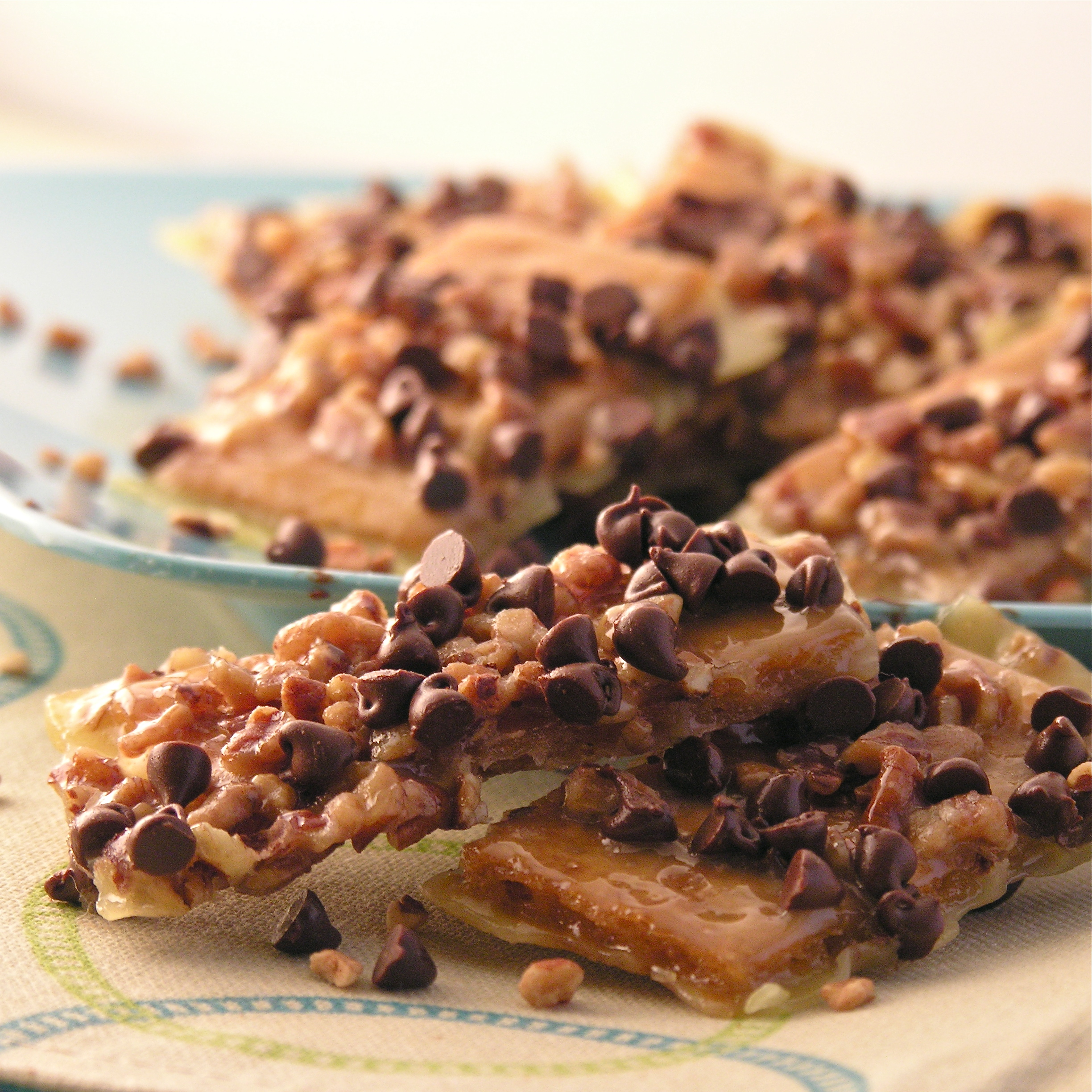 Crunchy toffee, pecans and chocolate make these bars irresistible ...