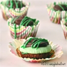 Mint Creme Brownie Cups