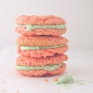 Strawberry Cookies with Sweet Tart Frosting