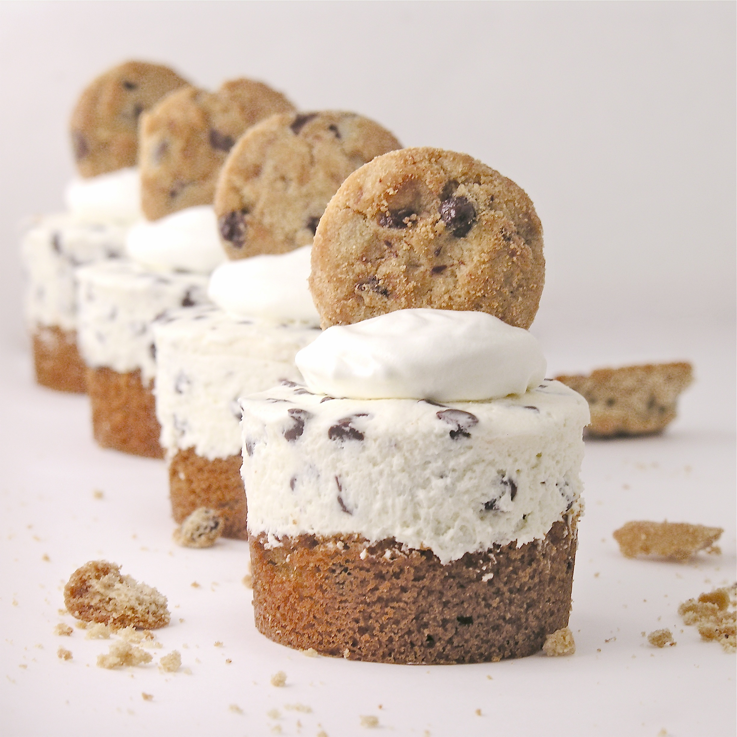Chocolate Chip Cookie Cheesecakes | eASYbAKED