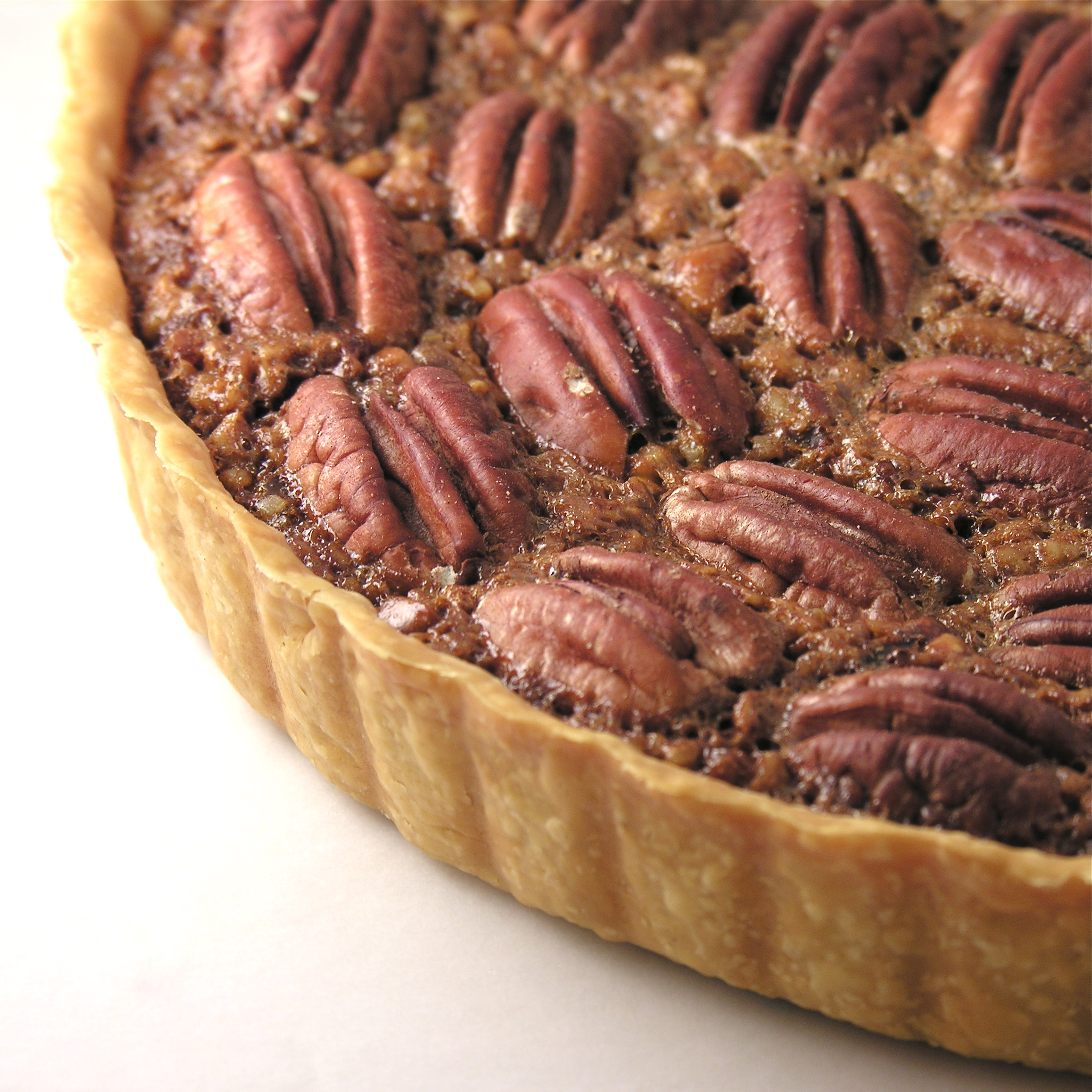 This pecan tart with a hint of cocoa was inspired by my recent ...