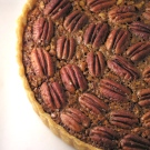 Pecan and chocolate pie