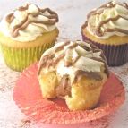 Cinnamon Roll Filling in a yummy cupcake!