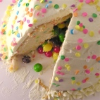 Confetti Cake Filled with Candy