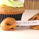 Caramel Apple Cupcakes with misfortune cookies
