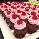 Chocolate Raspberry Mini Cupcakes