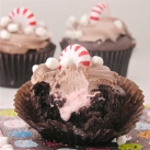 Peppermint Hot Chocolate Cupcakes!!!