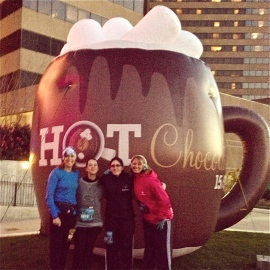 Starting line of the Hot Chocolate Race