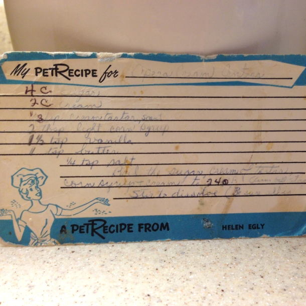 Gail's moms recipe card