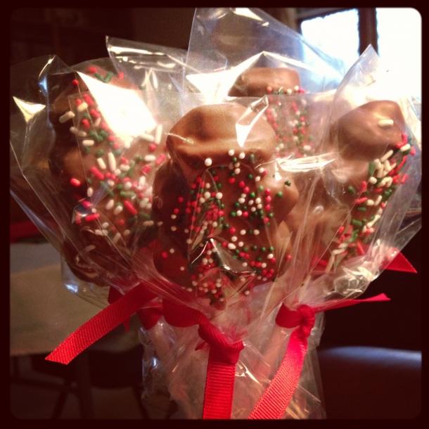 Chocolate Peeps Pops