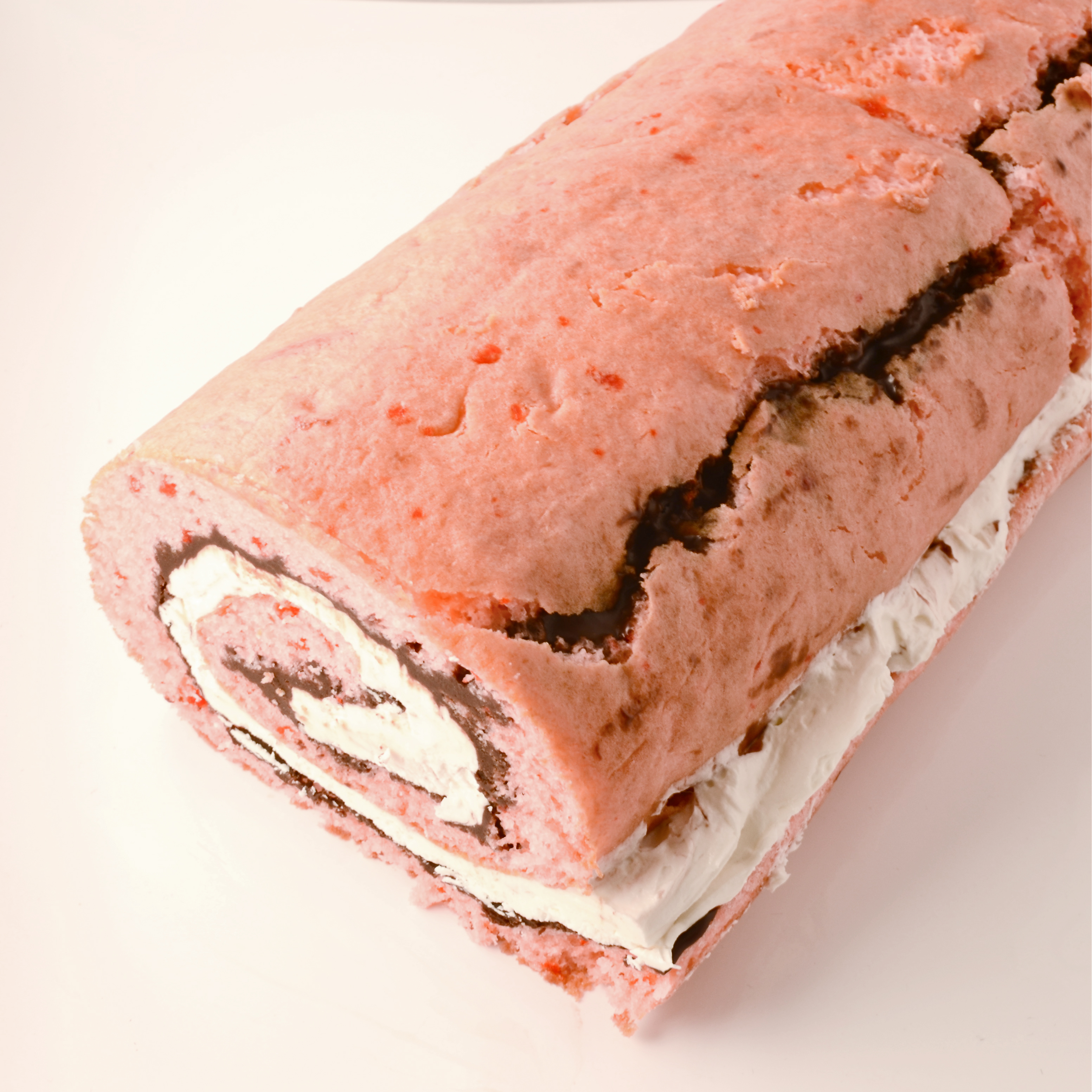 Chocolate Covered Strawberry Cake Roll