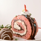 Chocolate covered strawberry Cake roll!!