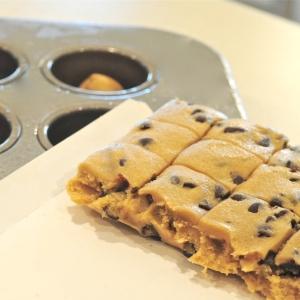 Break apart cookie dough bits....
