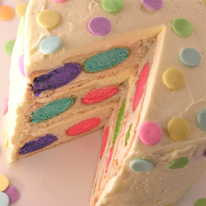 Polka Dot Cake eASYbAKED