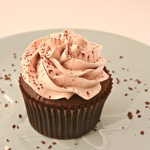 Mocha Caramel Filled Cupcake