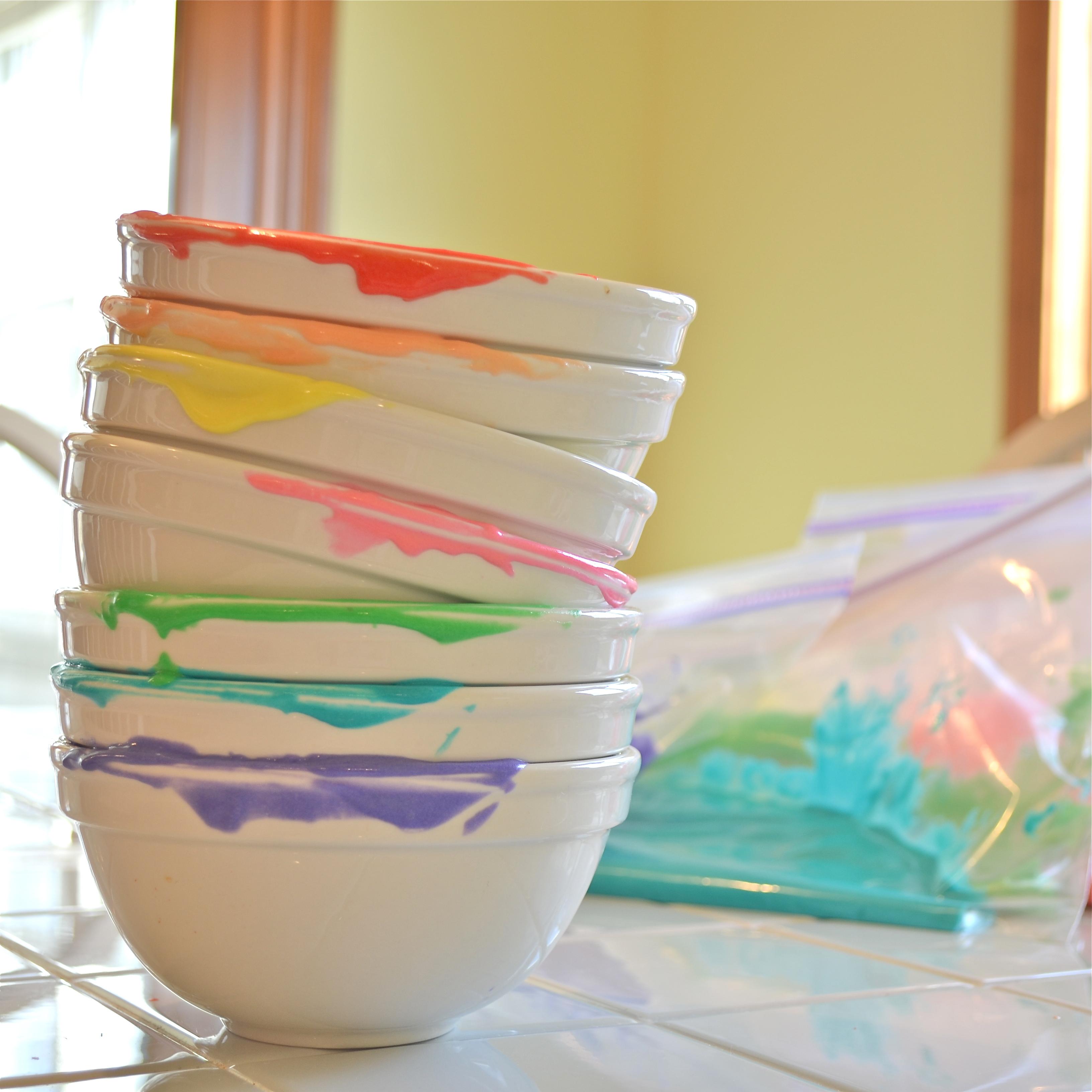 Rainbow dishes!