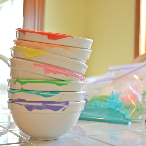 Rainbow dishes!