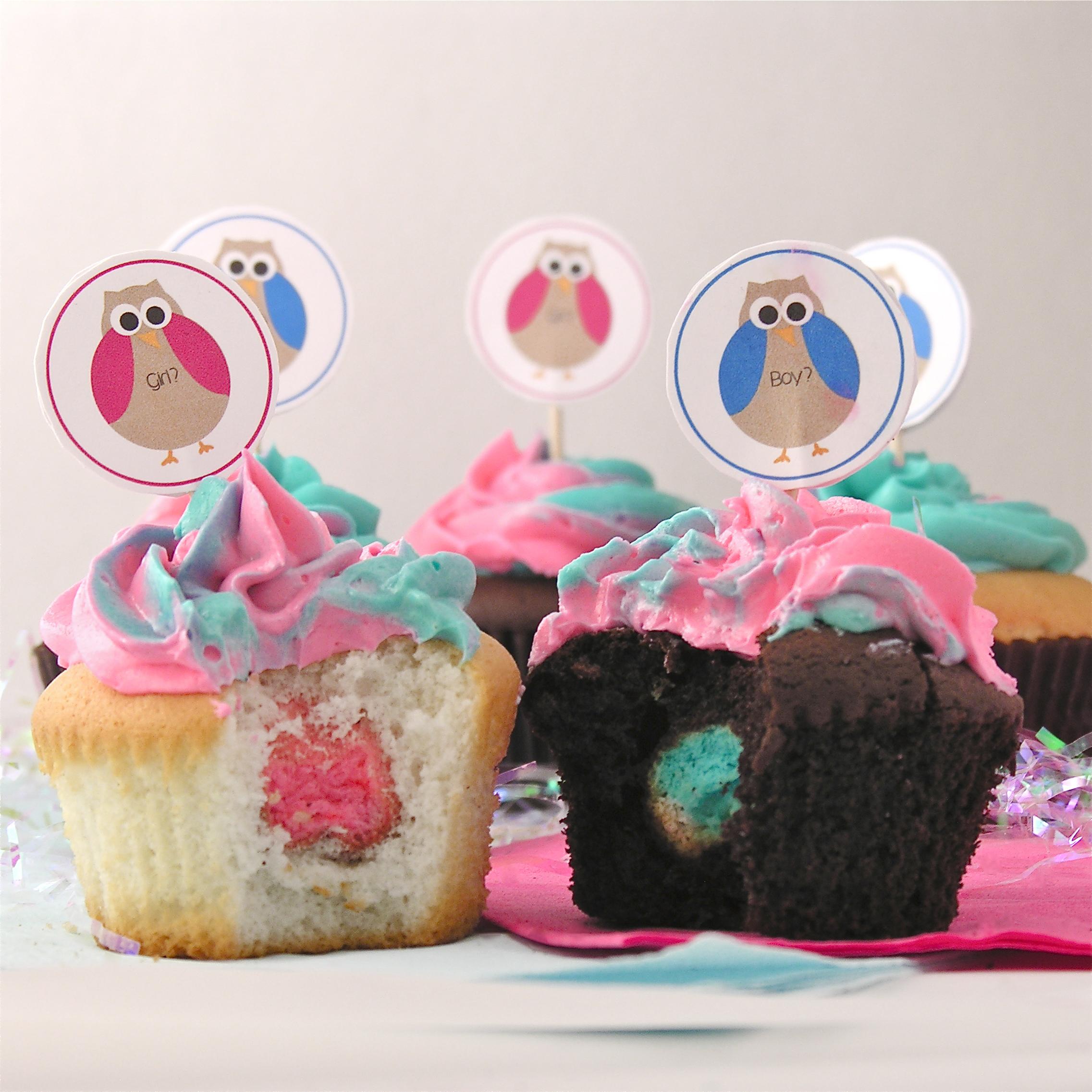 Gender Reveal Surprise Cupcakes EASYbAKED