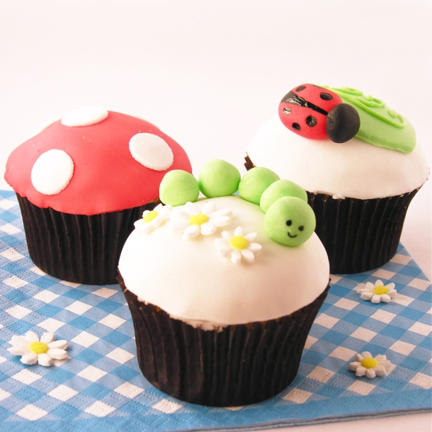 Ladybug and Caterpillar cupcakes!