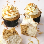 Coconut Caramel Cupcakes on easybaked