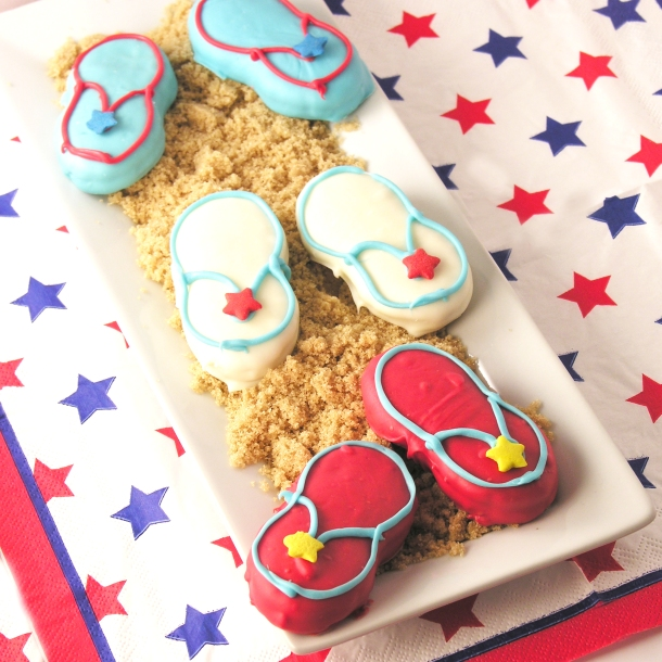 Patriotic Flip Flop Cookies!