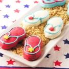 Patriotic Flip Flop Cookies!!!!