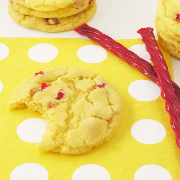 Lemonade cookies with licorice