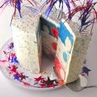 Patriotic Polka Dot Cake!!!!