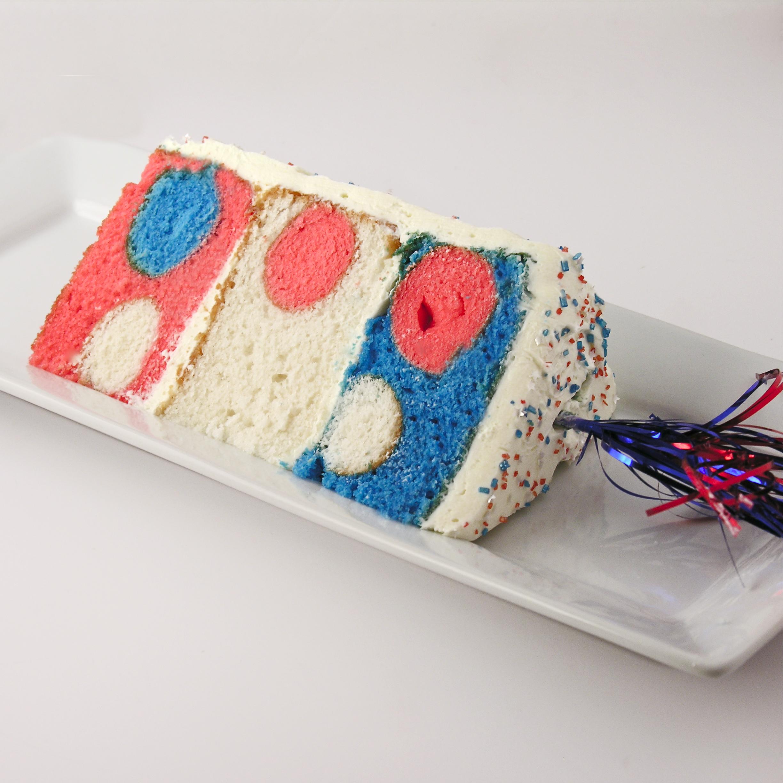 Patriotic Polka Dot Cake!!!