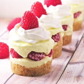 Raspberry Lemon Cream Cups!!!