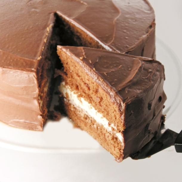 Red chocolate cream cake!