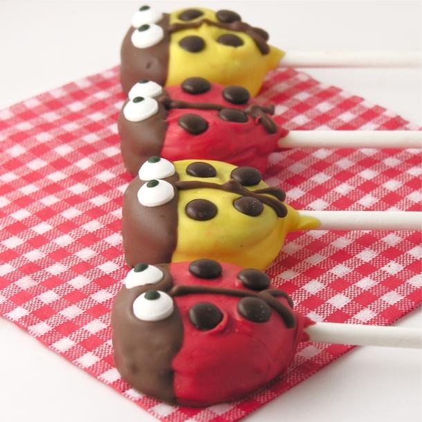 Ladybug Oreo Pops!!!
