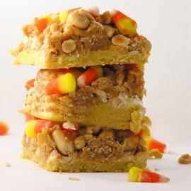 Candy Corn Peanut Bars!!