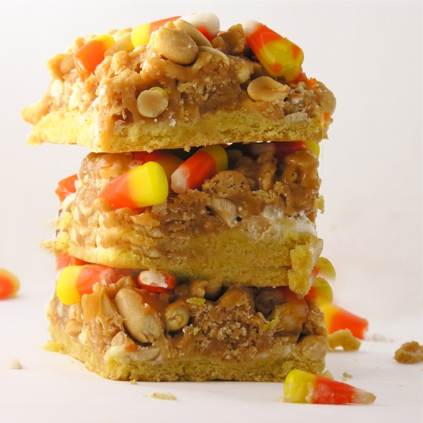 Candy Corn Peanut Bars!!