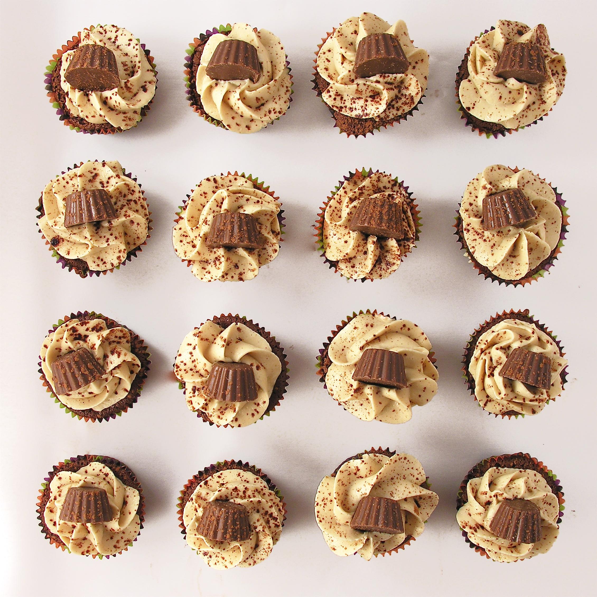 peanut butter fudge cupcakes