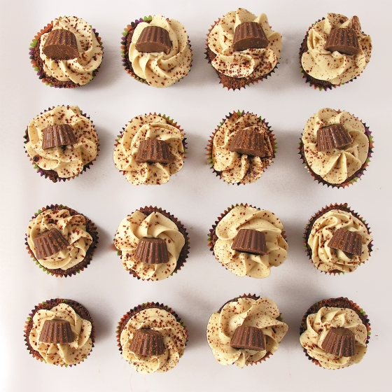 Peanut Butter Fudge Cupcakes!!!