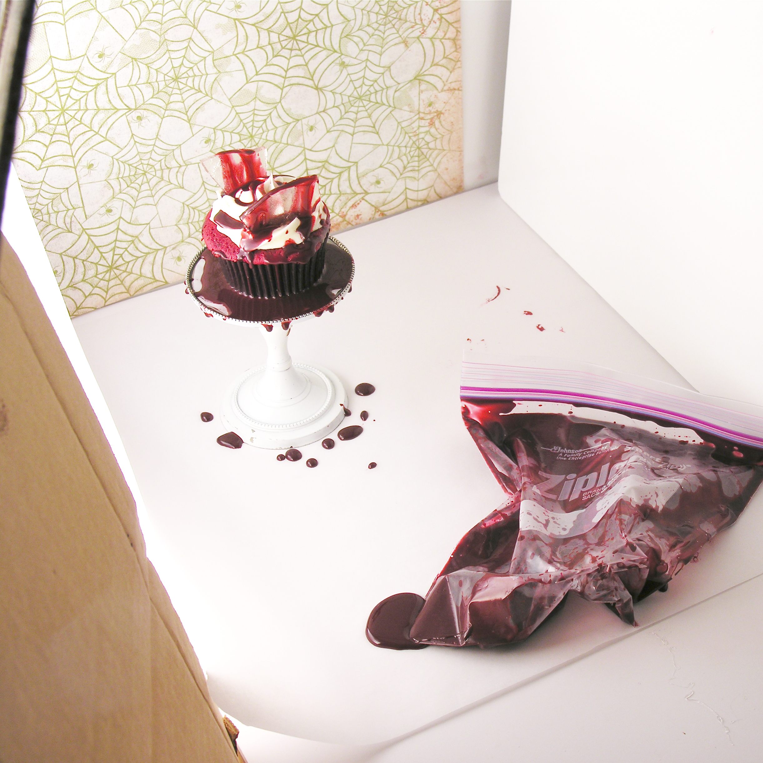 Broken glass cupcakes-- food photography at its finest....lol!