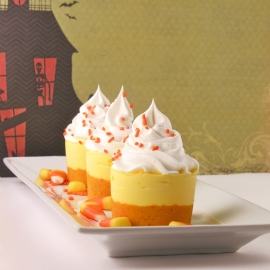 Frosty Candy Corn Dessert!