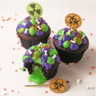 Toxic Slime-filled Cupcakes!