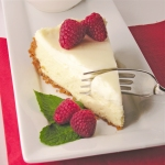 Creamy cheesecake with sour cream topping