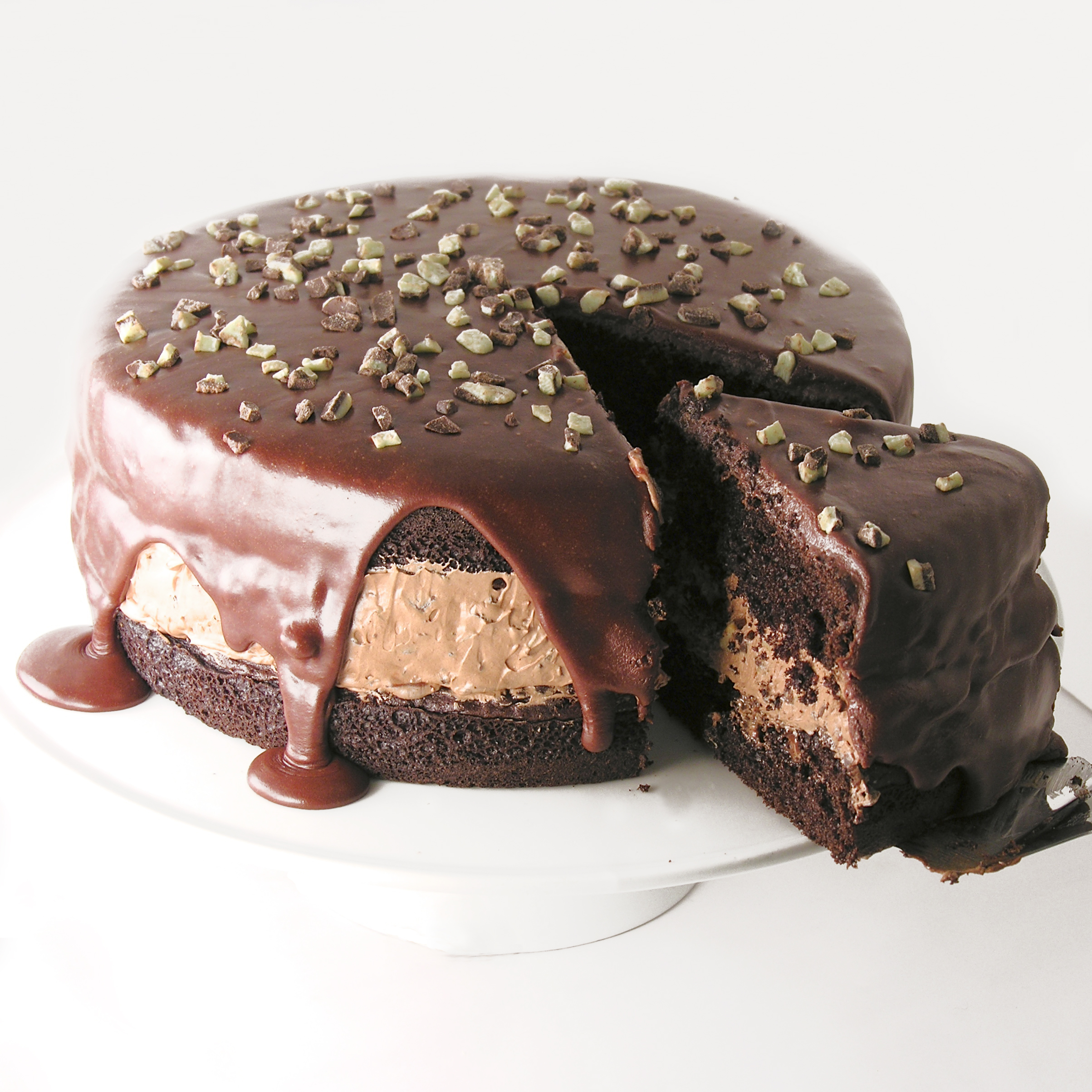 Chocolate Cake With Cholate Mints