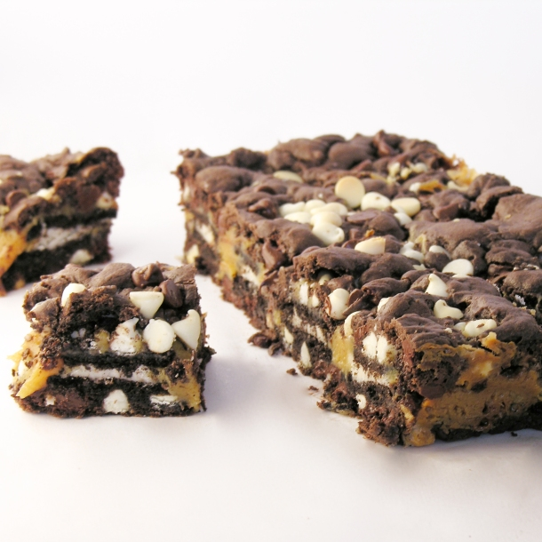 Caramel Oreo Brownie Bars!!!