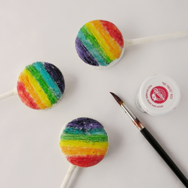 Painting Rainbows on Oreos!!!