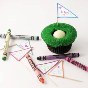 Golf Cupcake- DIY Flags