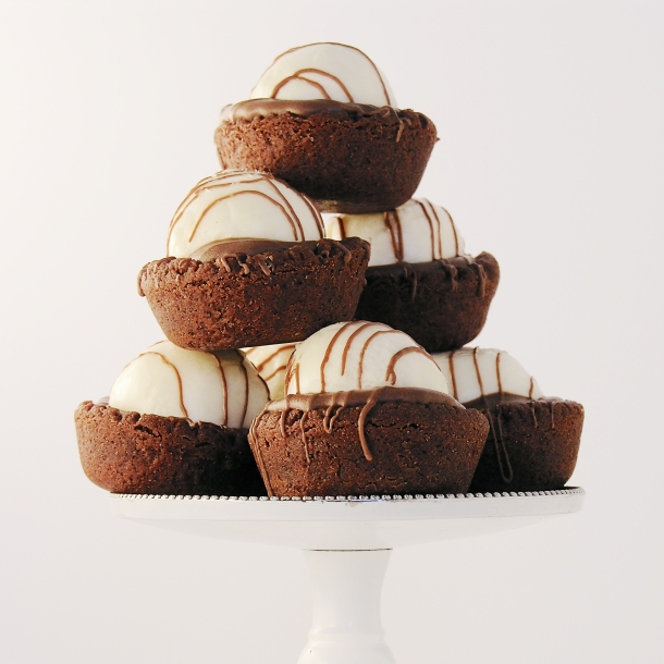 Triple Chocolate Truffle Cookie Cups!