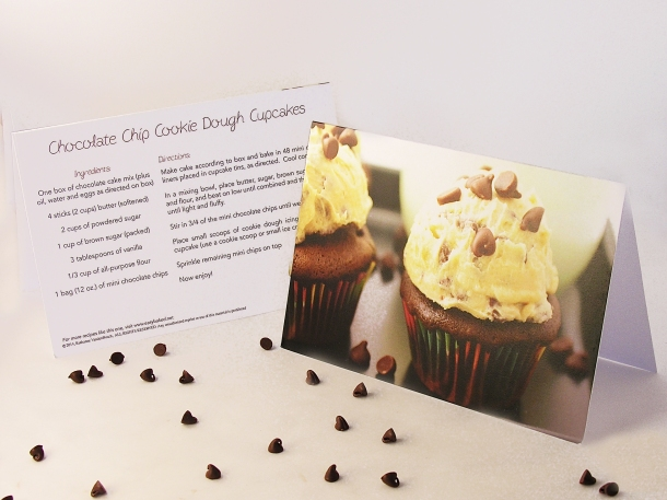 Chocolate Chip Cookie Dough Cupcakes Front and Back