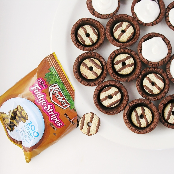 Fudge Stripe Cookie Cups!