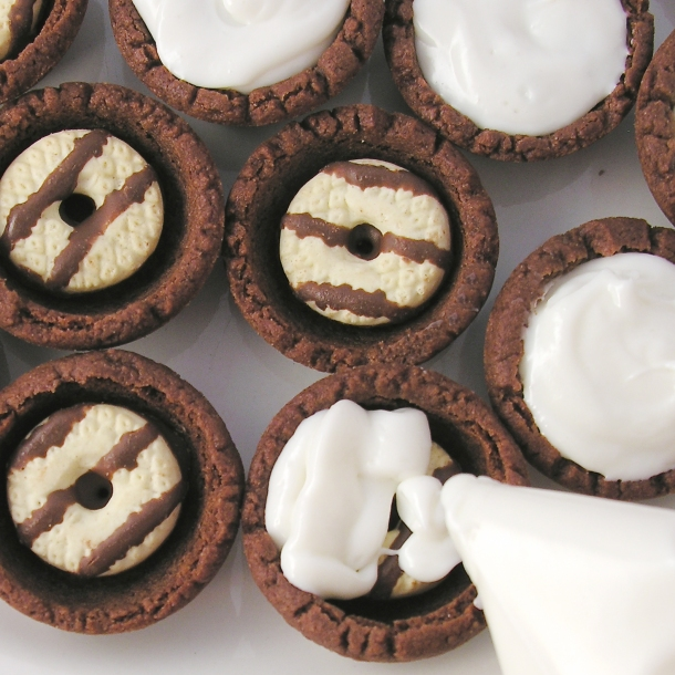Fudge Stripe Cookie Cups!